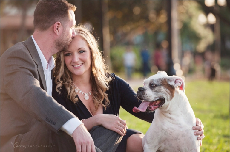 engagement shoot with dog