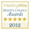 2012 wedding wire brides choice award winner