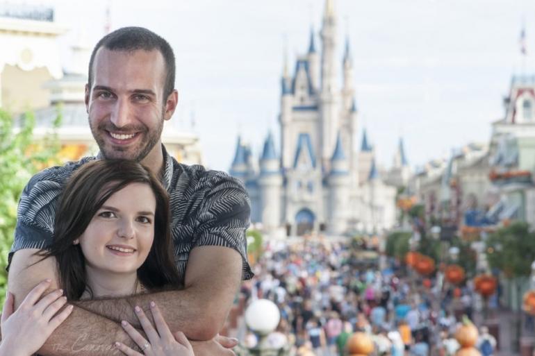 magic kingdom engagement photos