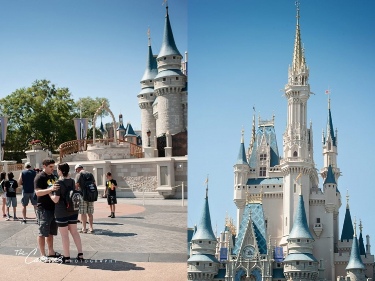 Disney Magic Kingdom Proposal Photography